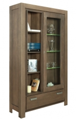 Vitrina 1U1S Cube Coffie Brown